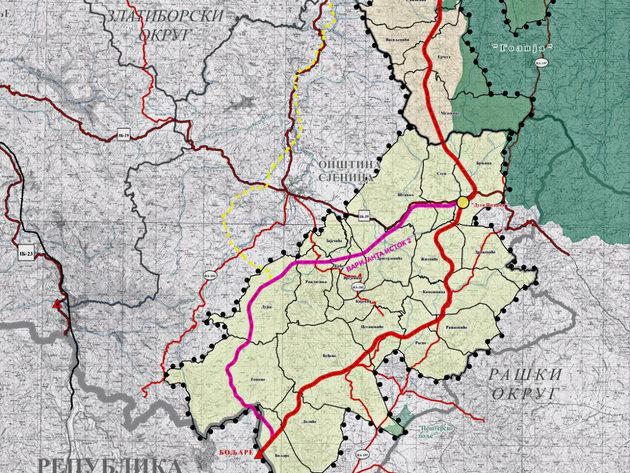 Ekapija Tri Moguce Trase Autoputa Od Pozege Do Boljara