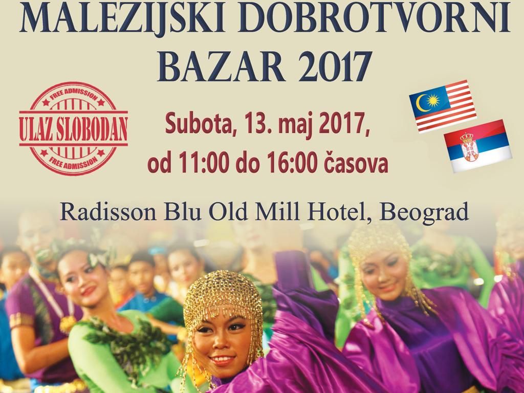 Fifth Malaysian Charity Bazaar on May 13 in Belgrade