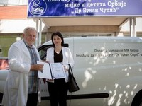 MK Group donirala putničko vozilo Institutu za majku i dete