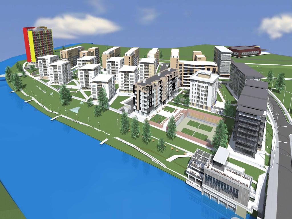 Banjaluka dobija stambeno poslovni kompleks od 100.000 m2 - Novi Borik imaće 2.000 stanova, studentski centar, dvoranu i sportske terene (FOTO)