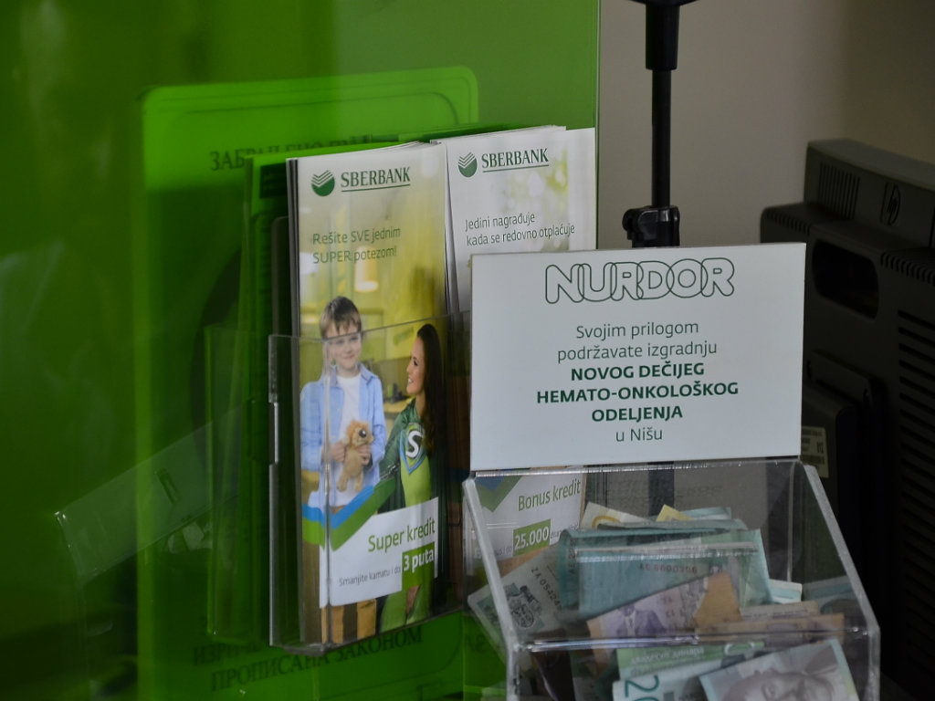 Sberbanka prikupila milion dinara za dečije hemato-onkološko odeljenje u Nišu