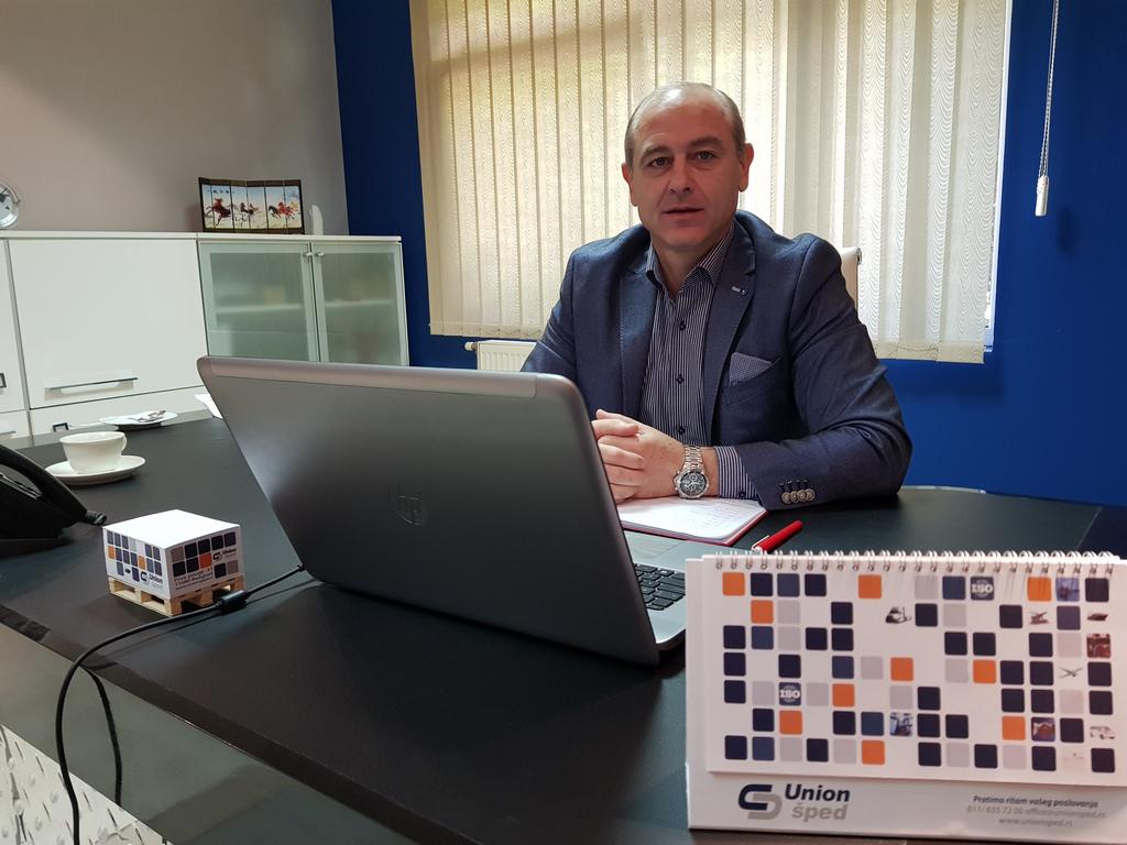 Vladan Stojković, generalni direktor kompanije Union šped - Tokom 2018. otvaramo sopstveni logistički centar u Ugrinovcima