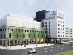 future look of Hilton Hotel in Podgorica