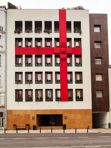 Square Nine Hotel decorated for forthcoming holidays