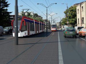 No more traffic jams in Vozdovac as of 2014 - Tram tracks in middle of Vojvode Stepe street, Autokomanda gets traffic lights