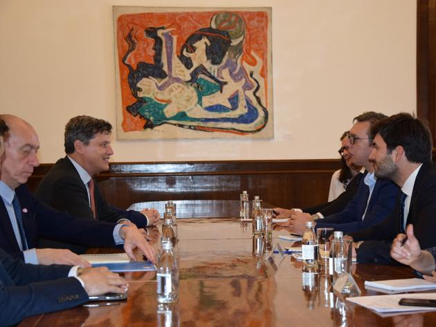 Treffen mit dem serbischen PräsidentenAleksanar Vucic