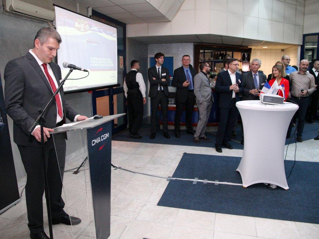 Kompanija CMA CGM obeležila 10 godina poslovanja u Srbiji - Nastavak povezivanja srpske privrede sa prekomorskim partnerima