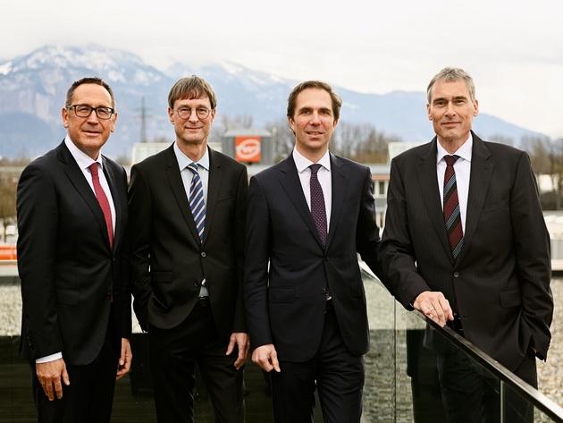 The Gebrüder Weiss Management Board: Jürgen Bauer, Peter Kloiber, Wolfram Senger-Weiss and Lothar Thoma