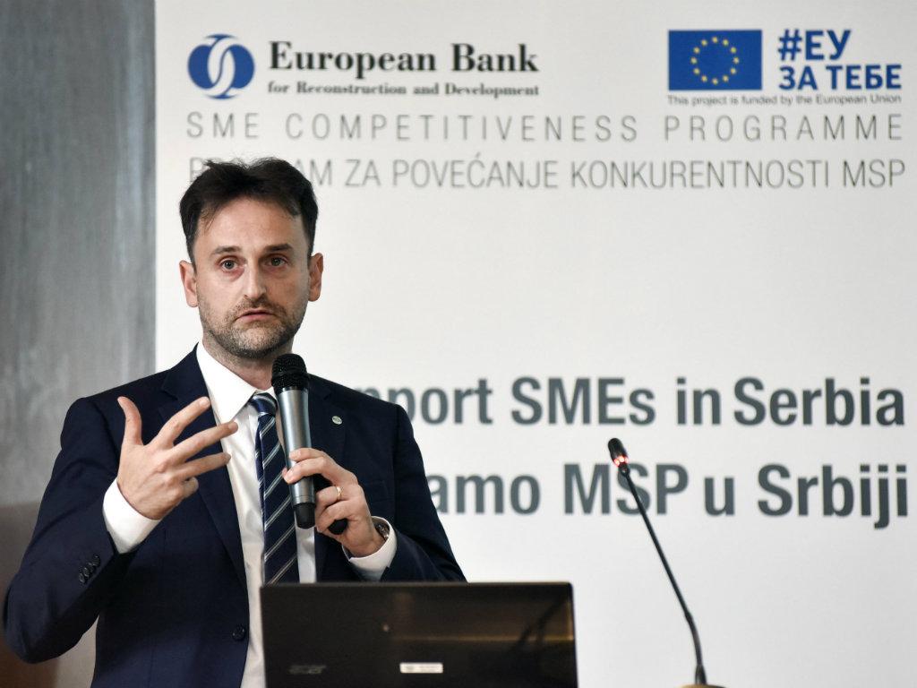 Giovanni Vaccari, projekt menadžer Programa podrške konkurentnosti MSP - EBRD i EU sa 40 mil EUR podržavaju male biznise u Srbiji