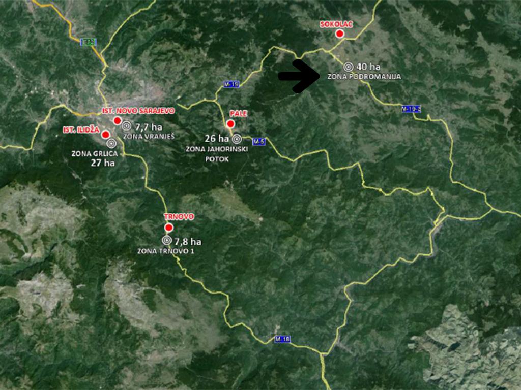 Poslovna zona Podromanija za greenfield investicije