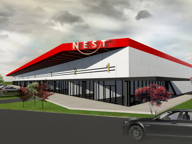 Future exterior of the facility
