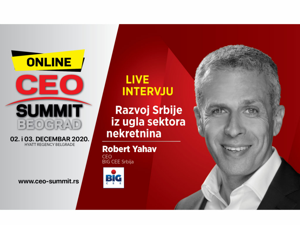 CEO Summit Beograd 2020 - Razvoj Srbije iz ugla sektora nekretnina
