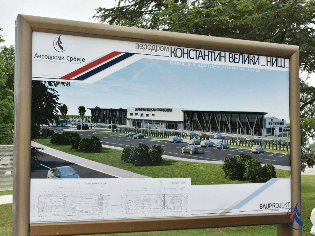 Niški aerodrom dobiće novi terminal na 7.160 m2 do 2022. - Predstavljeno idejno rešenje (FOTO)