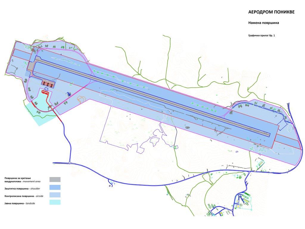 Flughafen Ponikve wird Touristen und Investoren nach Westserbien anziehen - Plan zum Wiederaufbau des Flugplatzes in Uzice sieht Hotels, kleinere Produktionshallen u.a. vor