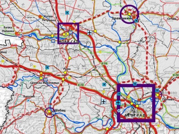 """<span class=""""VIiyi""""><span class=""""JLqJ4b><span>Karte aus dem Entwurf eines Raumplans mit markierten Standorten von zwei neuen Flughäfen</span></span></span>"""