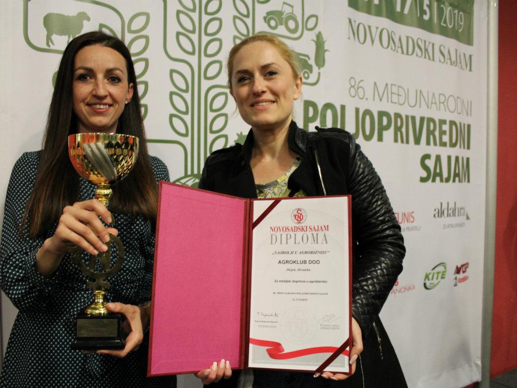 Agroklub dobitnik nagrade Novosadskog sajma za medijski doprinos