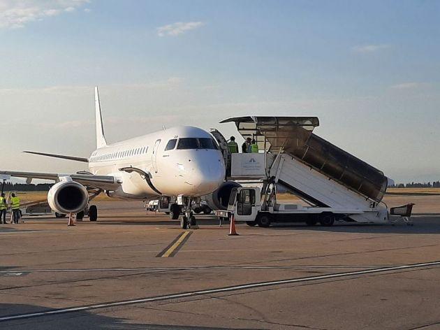 Avion na podgoričkom aerodromu