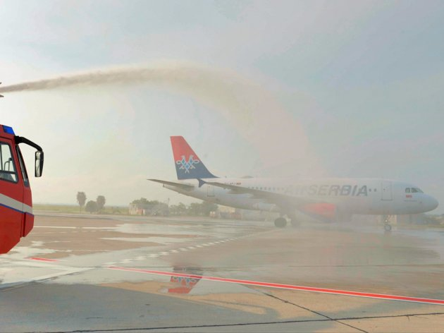 Welcoming the first direct Air Serbia flight on the Belgrade-Venice route