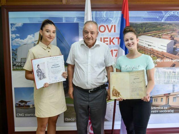 Predsjednik Upravnog odbora kompanije Alumina Mile Matić organizovao prijem za djecu radnika sa Vukovom diplomom