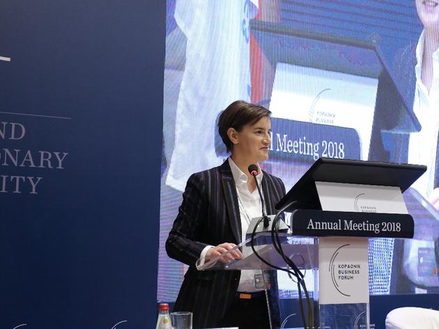 """Ana Brnabic: Rede ist zum Abschluss von """"Serbischem Davos"""""""