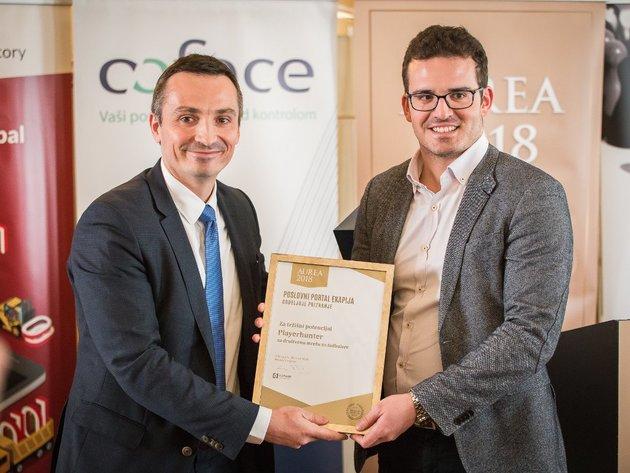 Stefan Dobrić prima specijalno priznanje za tržišni potencijal Aurea 2018