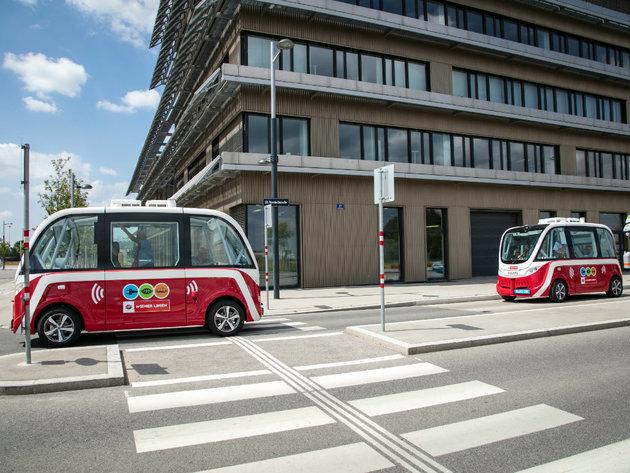 Autonomni autobusi u naselju Aspern