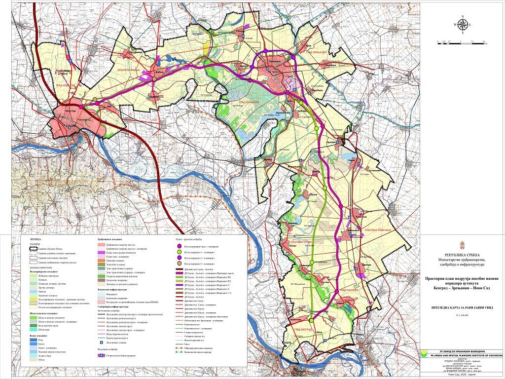 Prostornim planom određeni konačna trasa i profil Vojvođanskog P - Sedam deonica i sedam petlji na dužini od 100 km auto-puta