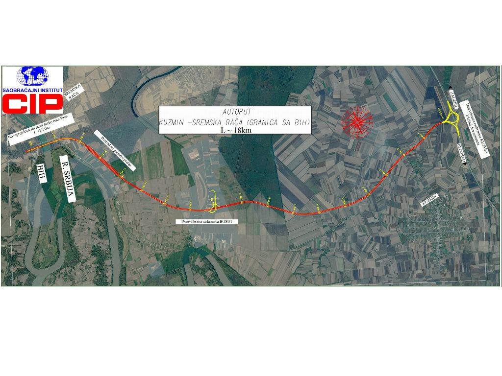Beogradski CIP će raditi projektnu dokumentaciju za dionice autoputa Sarajevo-Beograd kroz BiH - Ovo su detalji trasa u Srbiji