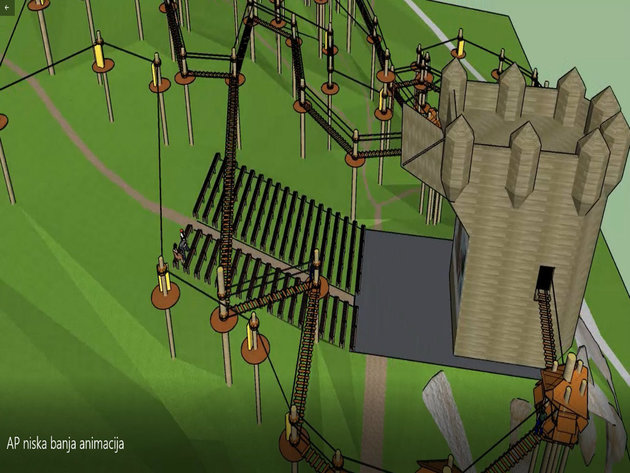 Projektovani izgled Avantura parka