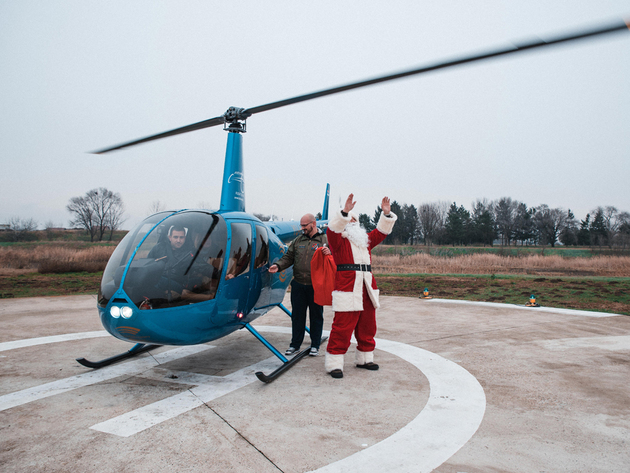 Balkan Helicopters organizes panoramic flights above Belgrade with Santa Claus as pilot