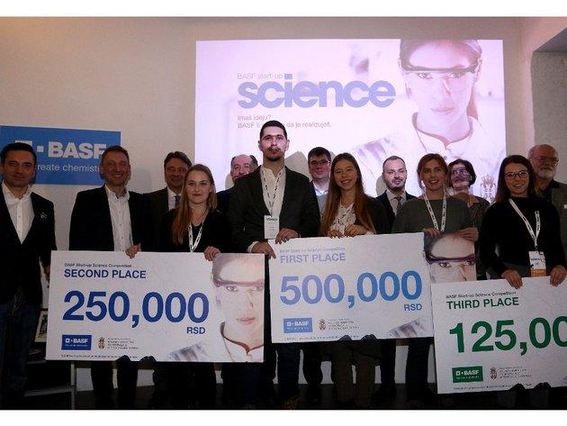 Pola miliona dinara za razvoj biopolimernih folija - BASF nagradio najbolje mlade naučnike Srbije