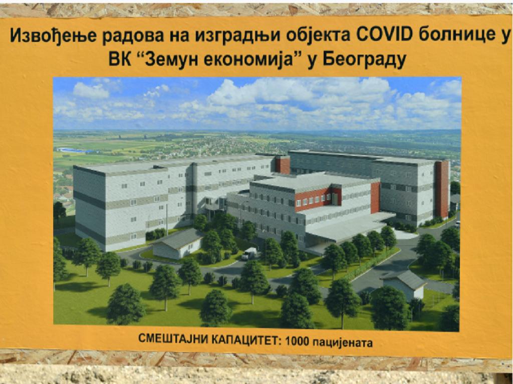 Završetak gradnje najveće kovid bolnice u Srbiji do 1. decembra - Kompleks u Batajnici imaće 18.000 m2