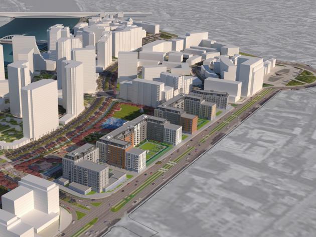 Wohn-Bürokomplex auf 120.000 m2 soll in der Nähe des Justizpalastes entstehen – Vier Gebäude sollen gebaut werden, Angebot umfasst Wohnungen von 570 m2