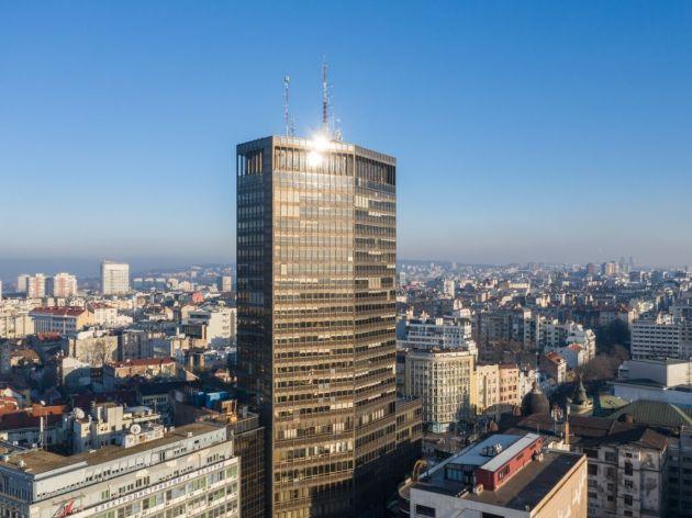 """Erleben Sie den außergewöhnlichen Blick auf die Stadt vom 22. Stock des """"Palastes von Belgrad"""" aus"""