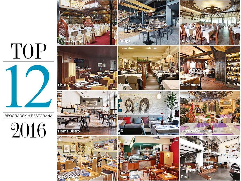 Ovo su top 12 beogradskih restorana