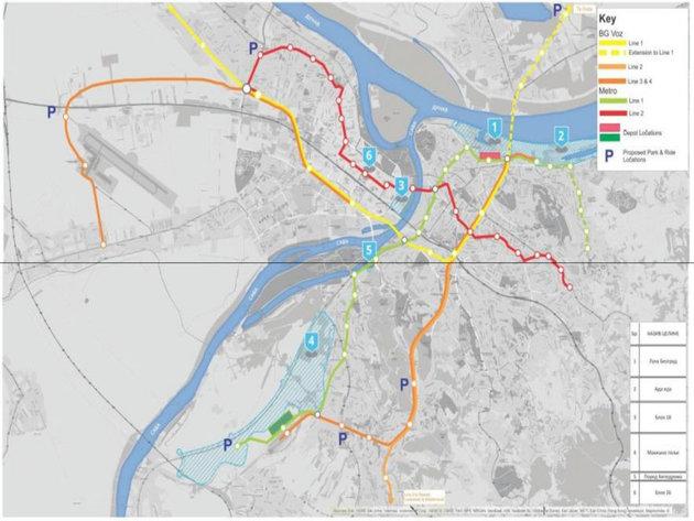 Das geplante U-Bahn-System und die Stadtbahn