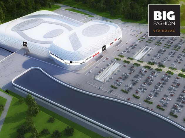 Future look of the Vidikovac shopping center, to be the biggest shopping center in Srbija