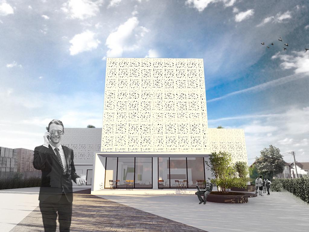 Moderan biznis centar rupičaste fasade - Pogledajte kako će izgledati novi poslovni objekat firme Sana Tel u Sanskom Mostu (FOTO)