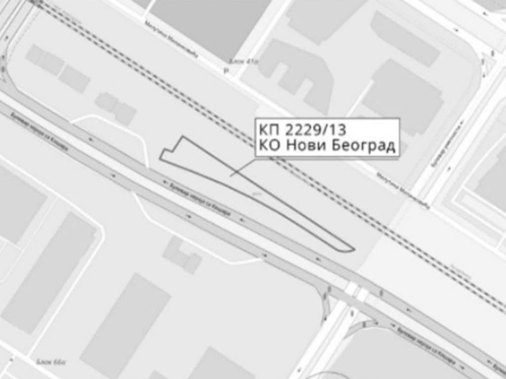 Prodaje se zemljište u Bloku 41a na Novom Beogradu - Početna cena 137,5 miliona dinara