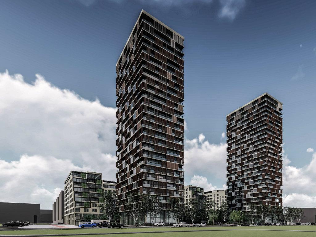 Kod Yu biznis centra na Novom Beogradu planiran stambeno-poslovni kompleks na 100.000 m2 sa dve kule od po 95 metara i pogledom na Dunav (FOTO)