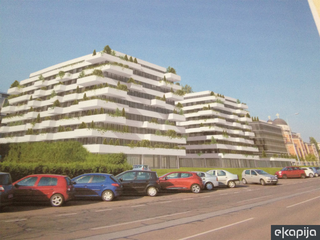 A new 36,701 m2 residential and business complex emerging in Block 32 in New Belgrade