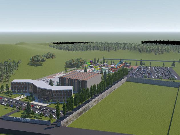 The preliminary design of the future tourist complex in Bogatic
