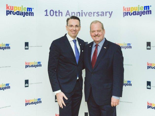 Bojan Leković i ambasador Holandije u Srbiji, Henk van den Dol