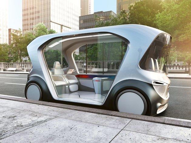 Silent driverless shuttle