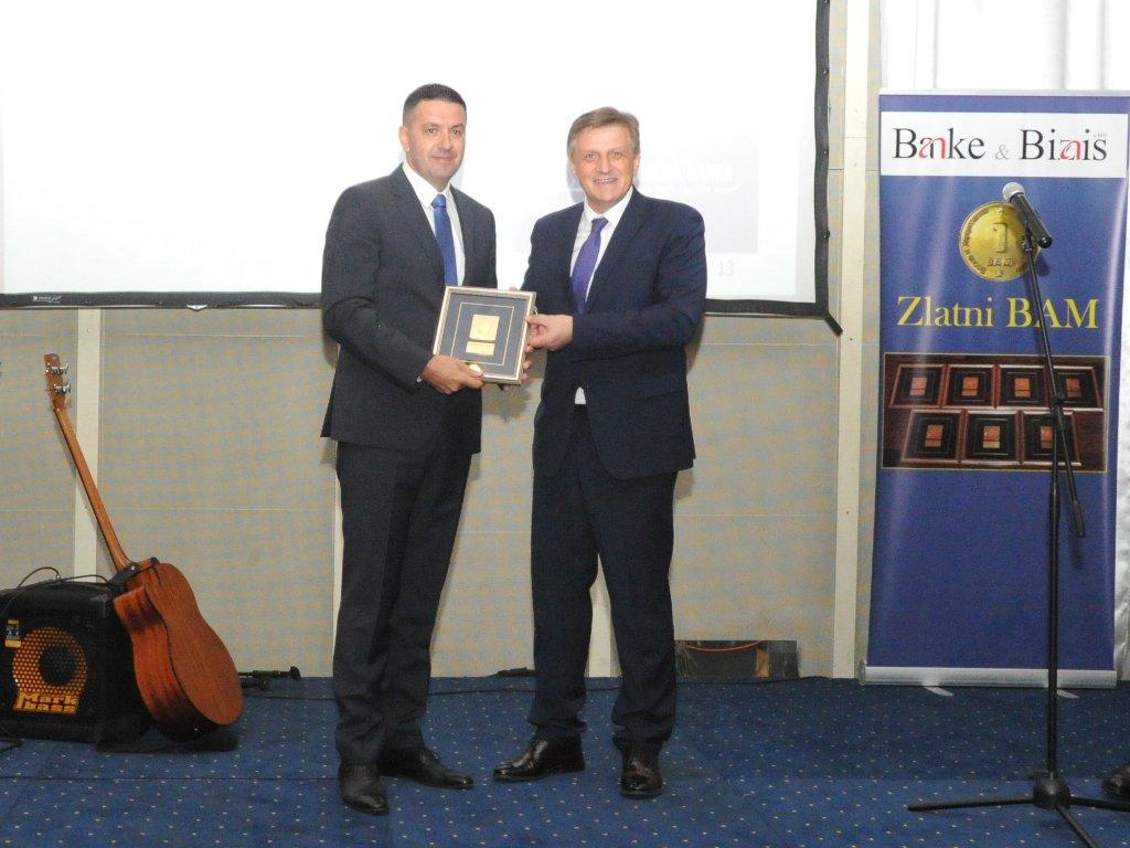 Komercijalna banka Banjaluka dobitnik nagrade Zlatni BAM za najveći procentualni rast depozita u 2018.