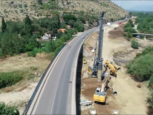 Radovi na izgradnji bulevara Podgorica-Danilovgrad