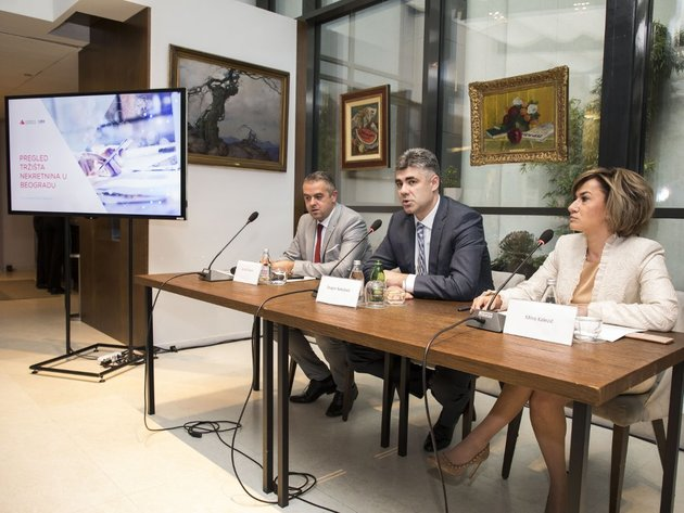 Präsentation neuer Trends auf dem Immobilienmarkt in Belgrad