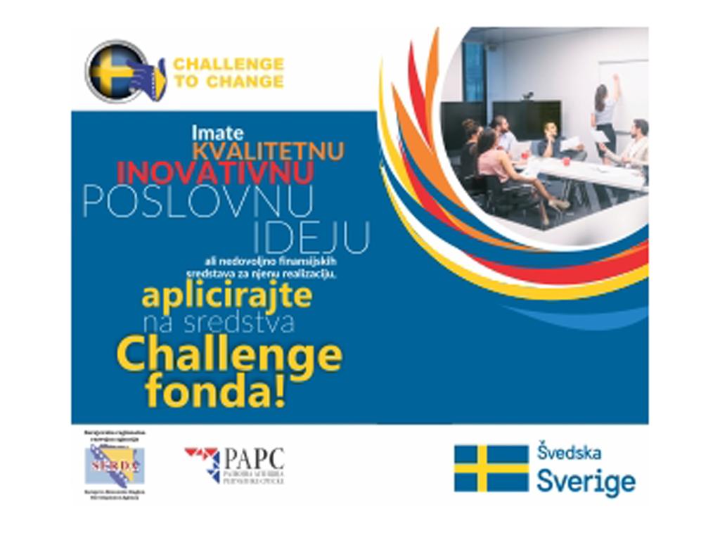 Ovo su termini info sesija o mogućnostima korišćenja sredstava Challenge fonda