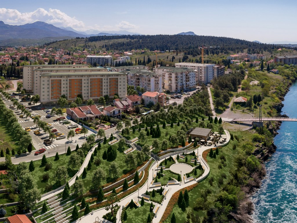 Celebic company is building residential complex totaling EUR 30 m - City kej project takes Podgorica to the river