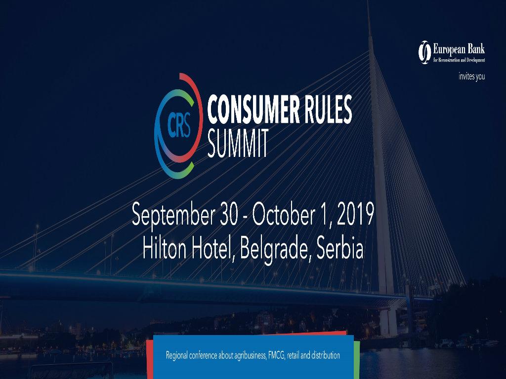 Consumer Rules Summit 30. septembra i 1. oktobra u Beogradu